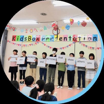 プレゼンテーションをしている生徒たちの様子